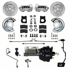 1967 68 69 Ford Mustang Cross Drilled Disc Brake Conversion Kit Power manu trans