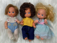 "Vintage 1976 Mattel Tiny Baby Dolls Jointed 3"" Plastic Rubber Lot of 3"