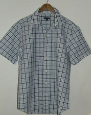 GAP Men's Check Linen & Cotton Short Sleeve Shirt Size L