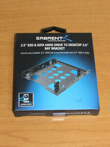 """Sabrent 2.5"""" SSD/HDD to Desktop 3.5"""" Bay Bracket - BK-HDDH - New in Sealed Box"""