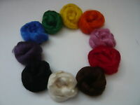 Pure Tussah Silk Top / Fibres Choose From 10 Colours - Felting, Spinning, Paper