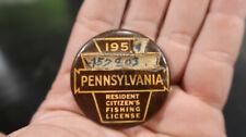 1953/4 Pennsylvania Pa Fishing License 457803