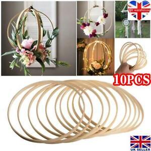 10PCS Dream Catcher Ring Round Wooden Bamboo Hoop DIY Crafts Tools 10 - 40CM UK