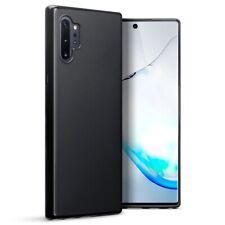 Samsung Galaxy Note 10 Plus TPU Gel Silicone Rubber Thin Cover Case Matte Black