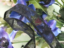 Cotton Cluny Leavers Lace Black 3 cms wide. Pattern 2081 Made in Great Britain