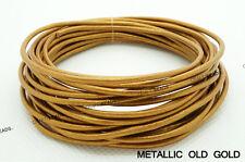 1mm 1.5mm 2mm Genuine Round Cowhide Leather Cord Bracelet String - Choose Color!