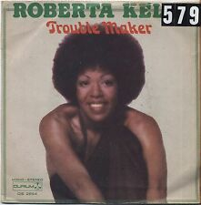 "ROBERTA KELLY - Trouble maker VINYL 7"" 45 LP ITALY 1976 VG+ COVER VG- CONDITION"