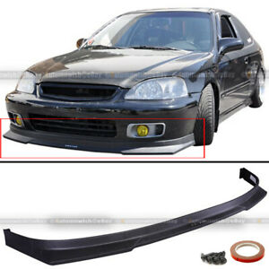 Fits 99-00 Honda Civic 2DR 3DR 4DR JDM Polyurethane HC1 Style Front Bumper Lip