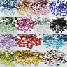2000pcs Crystal Rhinestone Silver Flat Back Diamante Acrylic Gems 2 3 4 5 mm