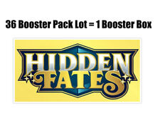Pokemon Hidden Fates 36 Booster Pack Lot = Booster Box Pokemon TCG
