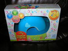 Elly Elephant Projector baby night light music projection LED 3 colors NEW
