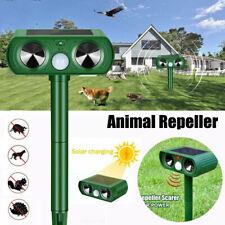Animal Repeller Ultrasonic Solar Power Outdoor Garden Pest Cat Dog Mice Sensor