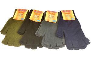 Mens Gloves Thermal full finger and Fingerless 1 Pair Handy.