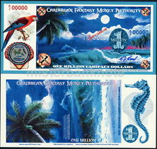 CARIBBEAN FANTASY MONEY AUTHORITY ONE MILLION CARIFAUX $ SPECIMEN FANTASY NOTE!