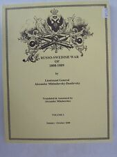 The Russo-Swedish War of 1808-1809 Two Volume Set
