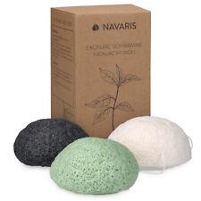 Lot 3 éponges de konjac visage tout type de peau - 100% naturel biodégradable