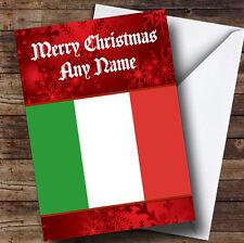 Bandera Italiana / Italia Personalizado Navidad tarjeta de saludos