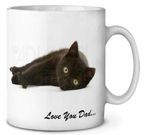Black Cat 'Love You Dad' Coffee/Tea Mug Gift Idea, DAD-159MG