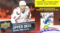 2015/16 Upper Deck Series 2 Hockey SPECIAL Factory Sealed Box-JUMBO YOUNG GUN !