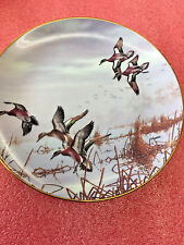 Bs8 Danbury Mint In To Feed David Maass Ducks Taking Flight 1988 Ltd Ed Plate