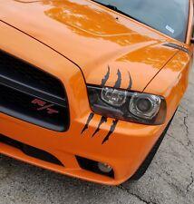 "12"" Headlight Claw Scar Scratch monster stripe decals Camaro Dodge Charger"