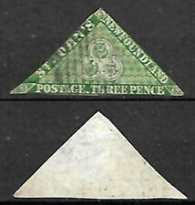 NEWFOUNDLAND ST. JOHN'S TRIANGULAR STAMP 1857?,1860?