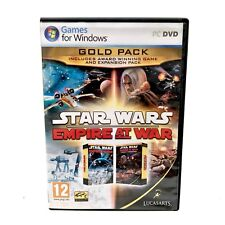 Pc Game Star Wars Empire at War Gold Pack Award Winning Includes Expansion Pack