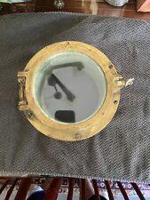 Circa Mid 1900s Brass Ship Porthole w/Original Glass