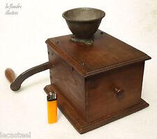 rare moulin à café de comptoir à manivelle latérale