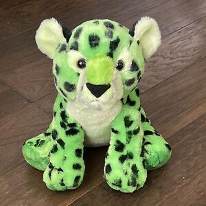 "Destination Nation Leopard Cheetah Plush Stuffed Animal Neon Green Aurora 12"""