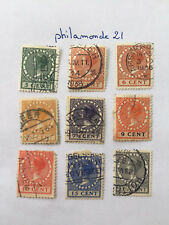 lot Timbres Pays Bas oblitérés.photo. 1924/1934. Reine Wilhelmine