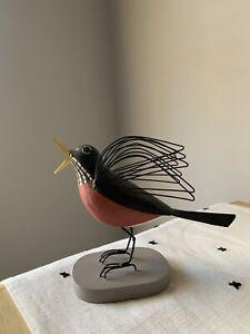 Charley Harper Round Robin Wood Bird Gold Leaf Design Group