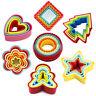 5PCS/Set Plastic Cookie Biscuit Sandwich Cake Cutters Colorful Heart Star Shape