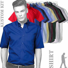 Kustom Kit Short Sleeve Polyester Formal Shirts for Men