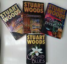 Stuart Woods Libro De Tapa Dura Lote 1st Ediciones 3 Piedra Barrington novelas & Orchid