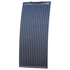 100W Black Reinforced Narrow Semi-flexible Solar Panel With ETFE Coating