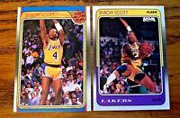 1988 Fleer Byron Scott # 68 and #122 - Lakers