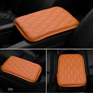 Car Armrest Pad Cover Center Console Dust-proof PU Leather Cushion Mat Universal