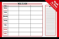Planner settimanale organizer calendario settimana per visualizzare pulire A SECCO MEMO Preavviso Lavagna