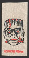 Vintage FRANKENSTEIN MONSER T-Shirt TRANSFER UNUSED w INSTRUCTIONS