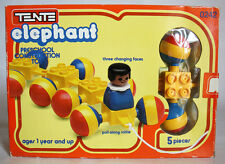 RARE VINTAGE 80'S TENTE ELEPHANT 0242 PULL TRAIN CONSTRUCTION EXIN NEW MIB !