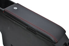 FITS DAIHATSU COPEN BLACK LEATHER ARMREST COVER red
