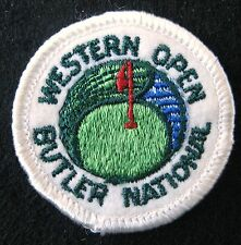 WESTERN OPEN EMBROIDERED SEW ON PATCH BUTLER NATIONAL GOLF PGA UNIFORM 2""