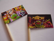 20 RETRO/VINTAGE CUPCAKE FLAG/TOPPERS - THE MUPPET SHOW CHILDRENS BIRTHDAY PARTY