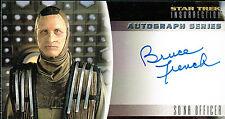 STAR TREK INSURRECTION AUTOGRAPH CARD A17 BRUCE FRENCH