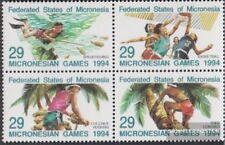 Mikronesien 352-355 Viererblock (kompl.Ausg.) postfrisch 1994 Mikronesienspiele