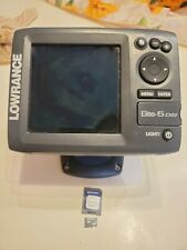 New listing Lowrance Elite-5 with Navionics Display Fishfinder Sonar Working Used As Is