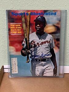 Hank Aaron Signed Sports Illustrated Mag Baseball HOF August 18 1969