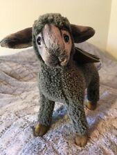 """HANSA Kid Sheep Plush, 11"""" height Gray Art #3454"""