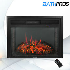"28"" Fireplace Electric Remote Insert Freestanding 1500W 5200BTU Glass Flame LED"